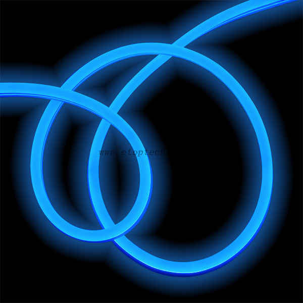 12V 24V Flexible LED Neon Rope Light Silicon Jacket Blue